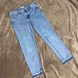 Light wash Calvin Klein skinny ankle jeans